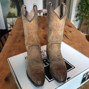 FRYE Women's Billy Pull-On Boot- Tan